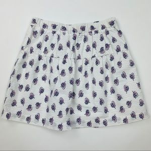 Brooks Brothers Fleece Seersucker Floral Skirt L